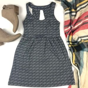 Urban Outfitters patterned open back mini dress